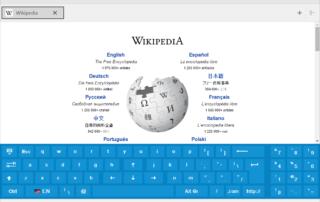 SiteKiosk - virtuální klávesnice