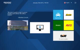 SiteKiosk - ukázka šablony úvodní obrazovky